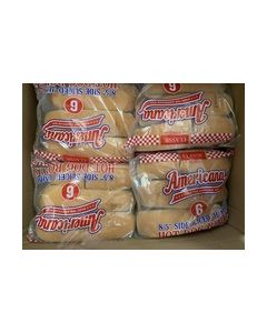 "FROZEN 8.5"" Jumbo Hot Dog Roll (6)"